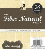 "DCWV - The Fiber Natural Stack - 6 x 6"" Paper Stack (24pk)"